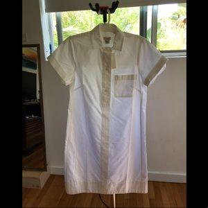 J. Crew Dresses - J.Crew White Cotton Button Down Pull-Over Dress